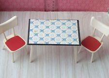 Vtg Doll House Miniature Modella Kitchen Chair Table Furniture Item Toy Lot