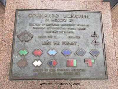 Commando memorial in Martin Place.