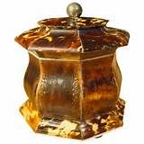 Pressed Tortoiseshell Tea Caddy