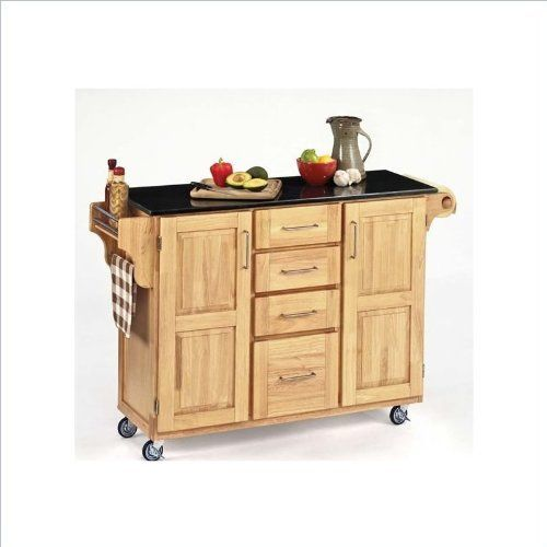 Home Styles 9100-1014 Create-a-Cart 9100 Series Cuisine Cart with Black Granite Top, Natural, 52-1/2-Inch by Home Styles. $446.37. Measures 48-inch width by 17-3/4-inch depth by 35-1/2-inch height. This cart is having four utility drawers and two cabinets, each with an adjustable shelf. Made of solid wood, natural asian hardwood in a natural finish with black granite top and utility drawer. This home styles 9001 series cuisine kitchen cart is a unique and refreshing solution ...