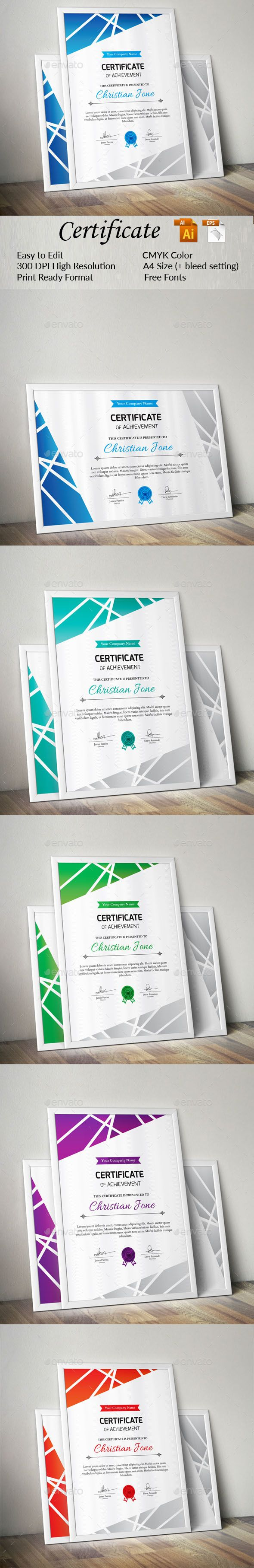 213 best CERTIFICATE images on Pinterest | Award certificates ...