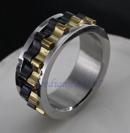 Mens Stainless Steel Sz 885995 Wmoving Gear Ring