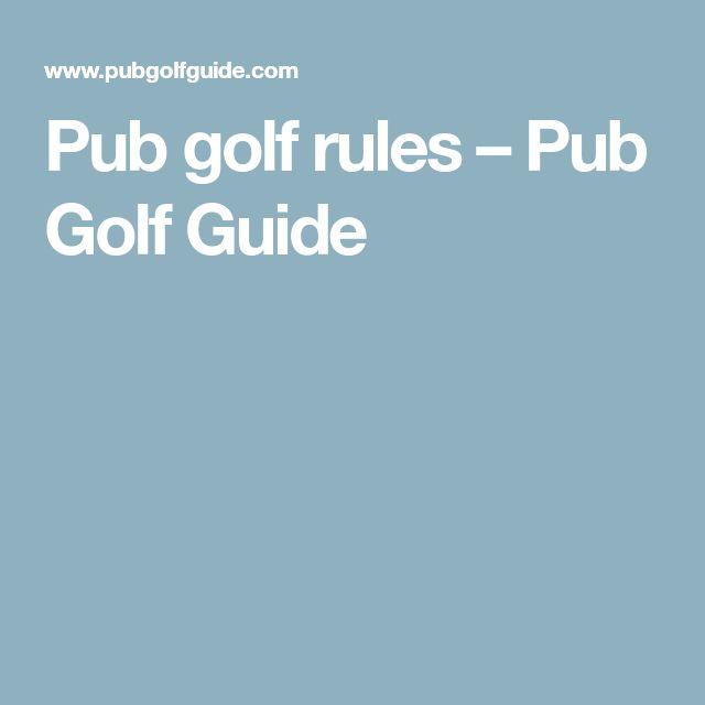 Pub golf rules – Pub Golf Guide