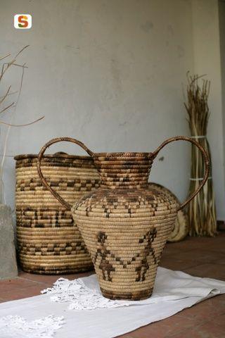 cesti in asfodelo - Bosa, Sardegna, Basket Sardinia.