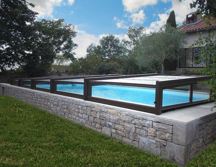 Installation d'un abri bas de piscine 3 angles à Villefranche de Rouergue 12 par Octavia #abribaspiscine