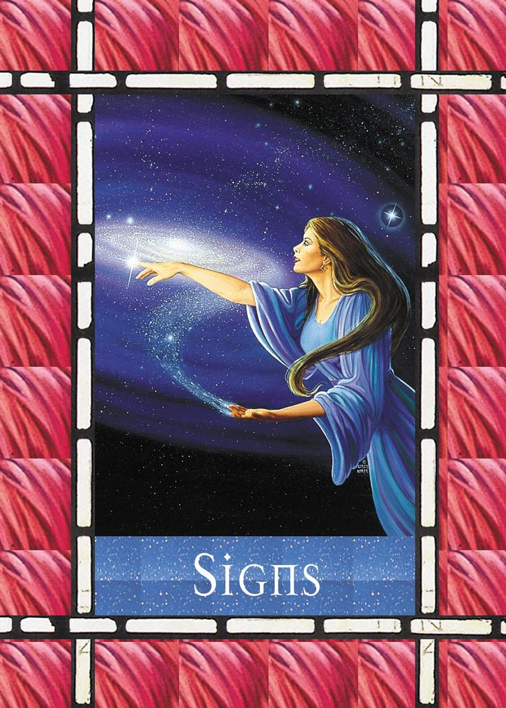 Card Meaning: Pay careful attention to the messages the angels give you now. You have asked for a sign, and they deliver it. Notice and trust these signs! You've asked for heaven to help you. Now it's up to you to pay attention to the evidence of their help. This card signifies that your angels are trying to get your attention with signs. They might ask a butterfly or bird to fly near you. Or they might compel you to hear a song several times. They might put an object in your path s...