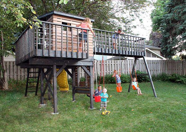 Kids Play The Modern Way Modern Swingset Design On Behance
