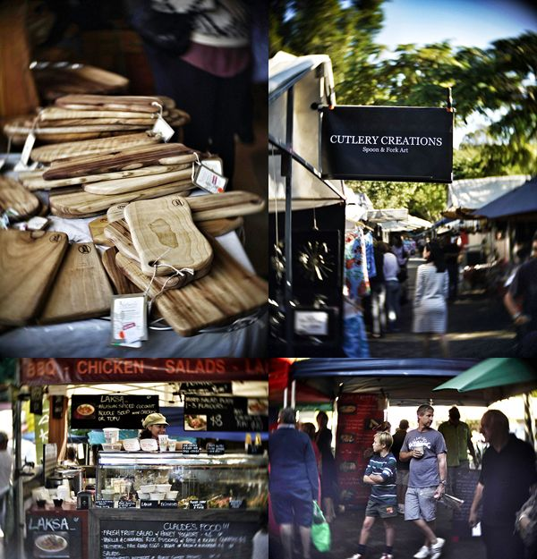 Eumundi Markets outside Noosa, Sunshine Coast, Queensland