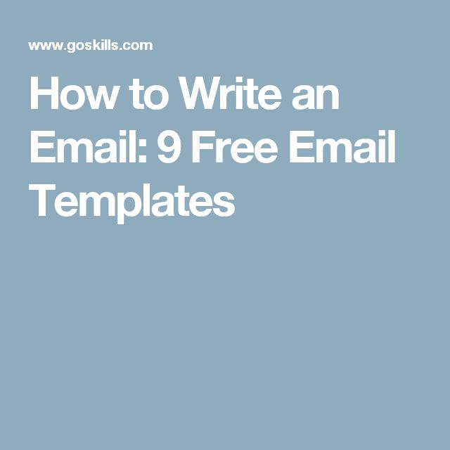 How to Write an Email: 9 Free Email Templates
