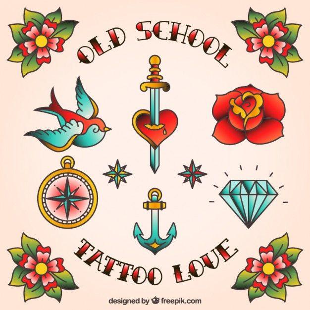 diseños de tatuaje Vector Gratis