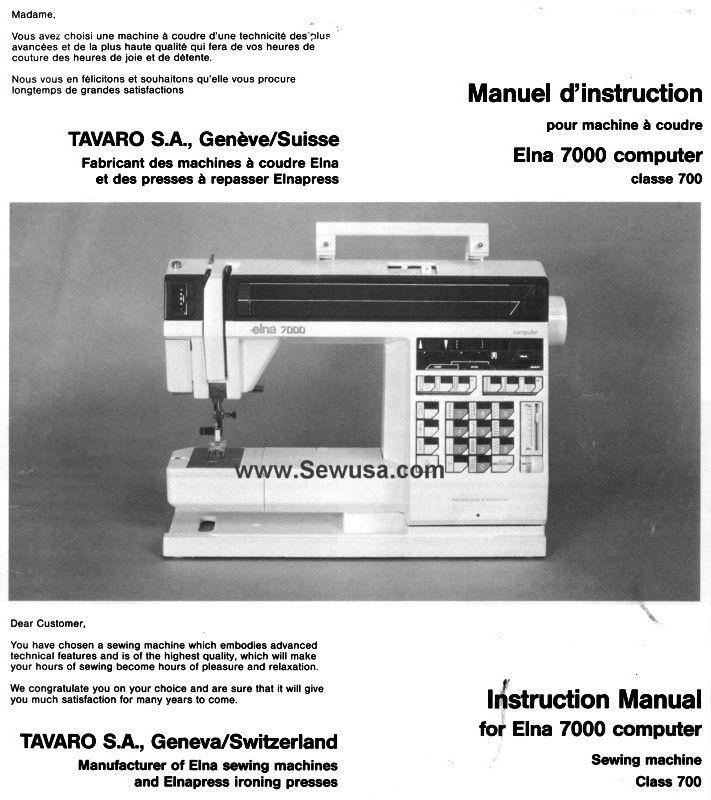 Elna club computer sewing machine - YouTube
