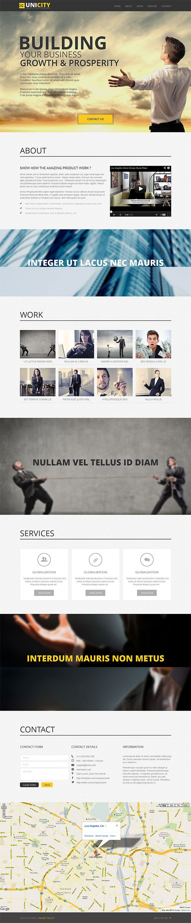 BUSINESS RESPONSIVE PARALLAX TEMPLATE