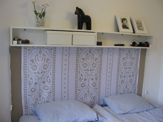 Headboard made from Benno DVD tower - IKEA Hackers