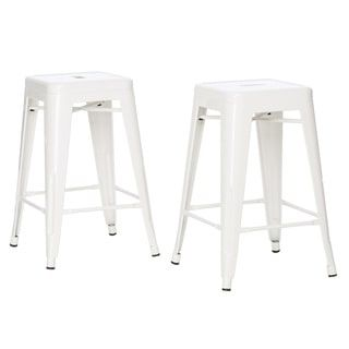 Tabouret 24-inch White Metal Counter Stools (Set of 2)  sc 1 st  Pinterest & Best 25+ Metal counter stools ideas on Pinterest | Metal stool ... islam-shia.org