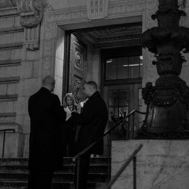 Men in Black.  by John Palacio - NYC, 2015.  #NYC #tbt #NYPL…