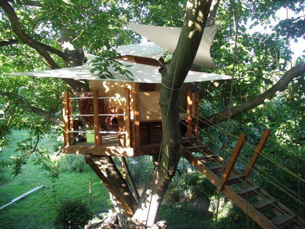 Luxury Baumhaus Sauna im Garten uc Garden Pinterest Baumhaus Saunas und Holzofen