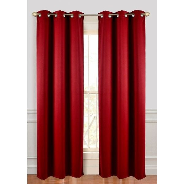 Dainty Home Wine Microfiber Blackout Grommet Panel Pair ($50) ❤ liked on Polyvore featuring home, home decor, window treatments, curtains, wine, blackout window treatments, thermal window treatments, grommet panels, thermal window coverings and black out curtains