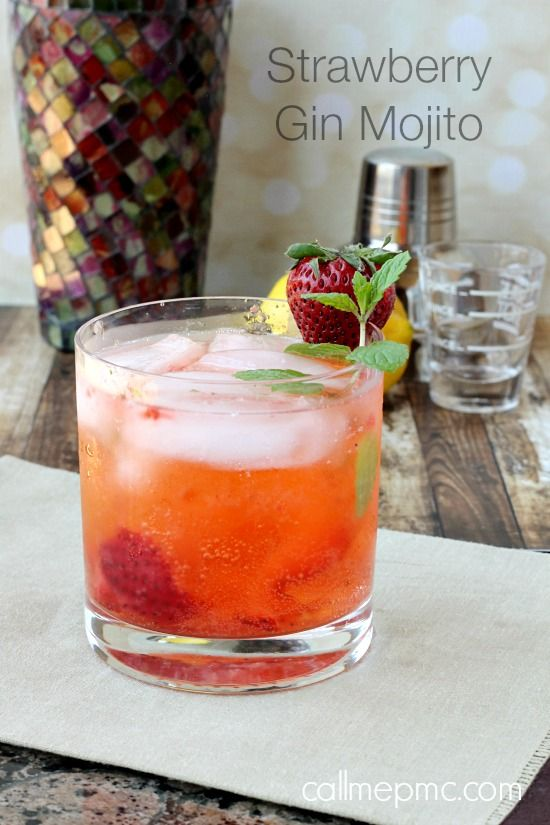 Strawberry Gin Mojito, maybe Ill try it with chocolate mint