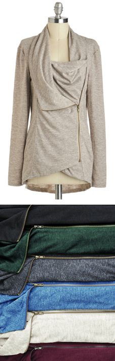 I love the draped look of this cardigan, and I imagine it would be very soft and comfortable.