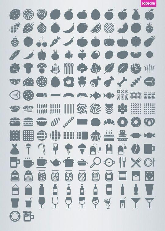 Eldorado mini Food icon set