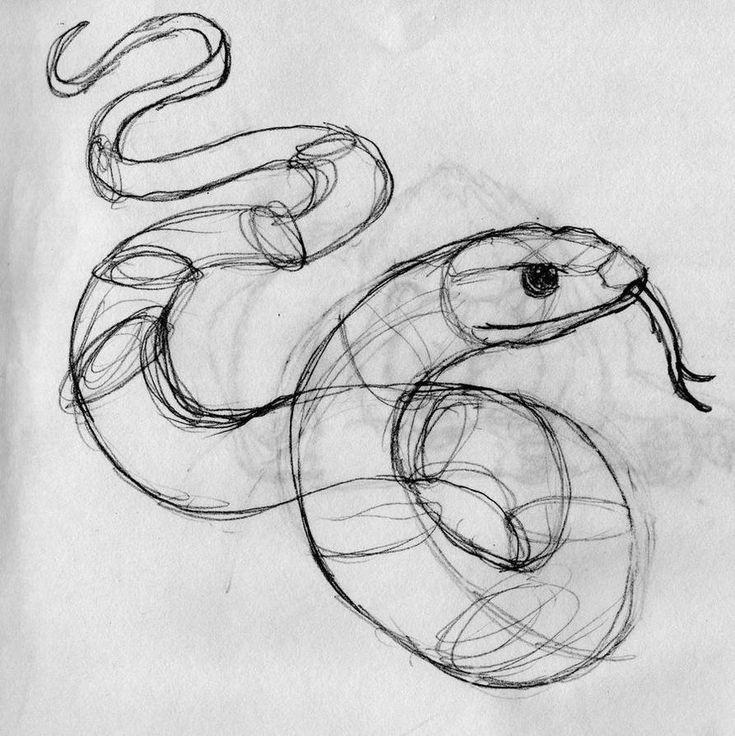 Картинка нарисовать змею
