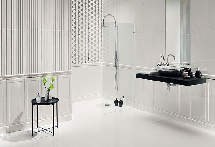 Senza White Kolekcje Ceramika Arte Lazienka Plytki Ceramiczne Glazura Bathroom Home Decor Home