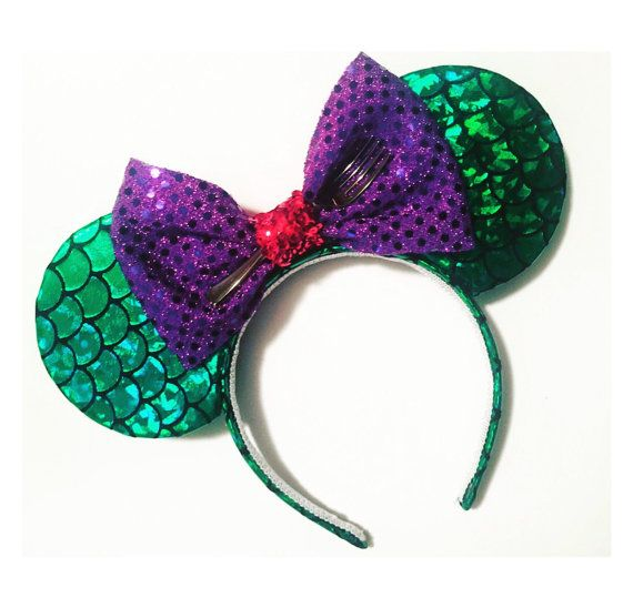 Hey, I found this really awesome Etsy listing at https://www.etsy.com/listing/482089168/the-little-mermaid-mickey-ears-mermaid