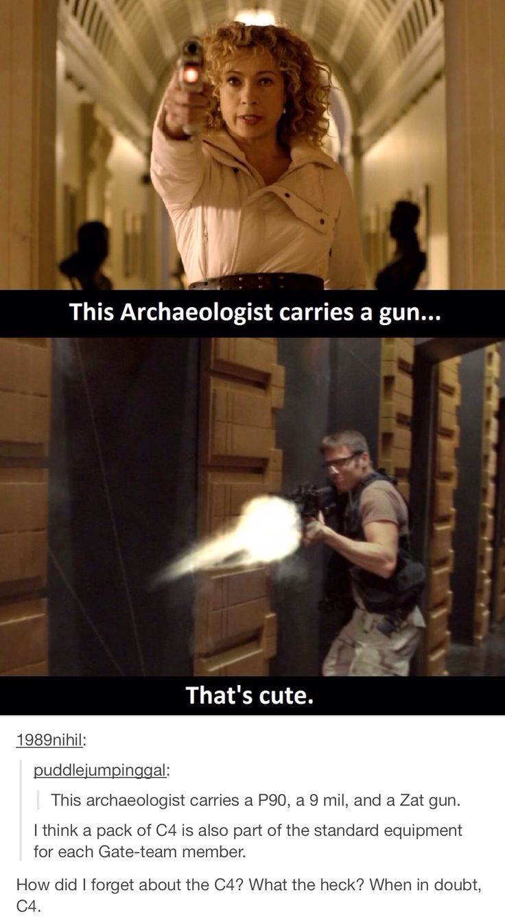 I think Indiana Jones might have been the first with a gun. Which does not mean that the people who are like this after him are not amazing. Just do not assume it is something new. Although as this points out I think Daniel wins for weapons. :)