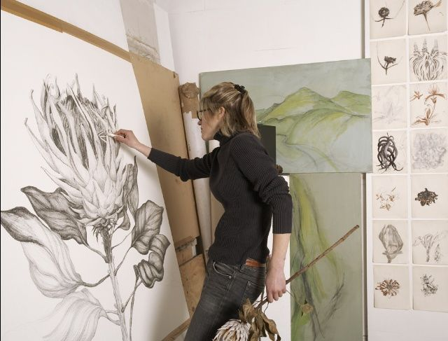 Sarah Graham at work in her studio.