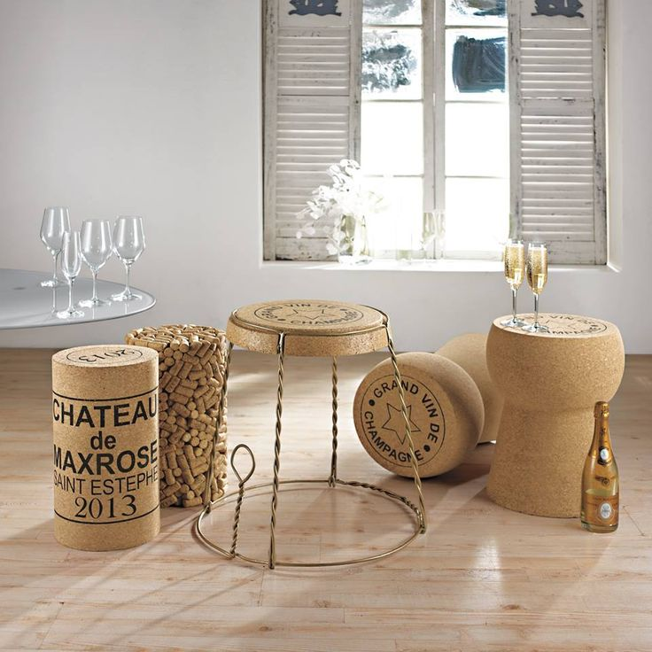 wine/champagne cork stool/tables & champagne cage table