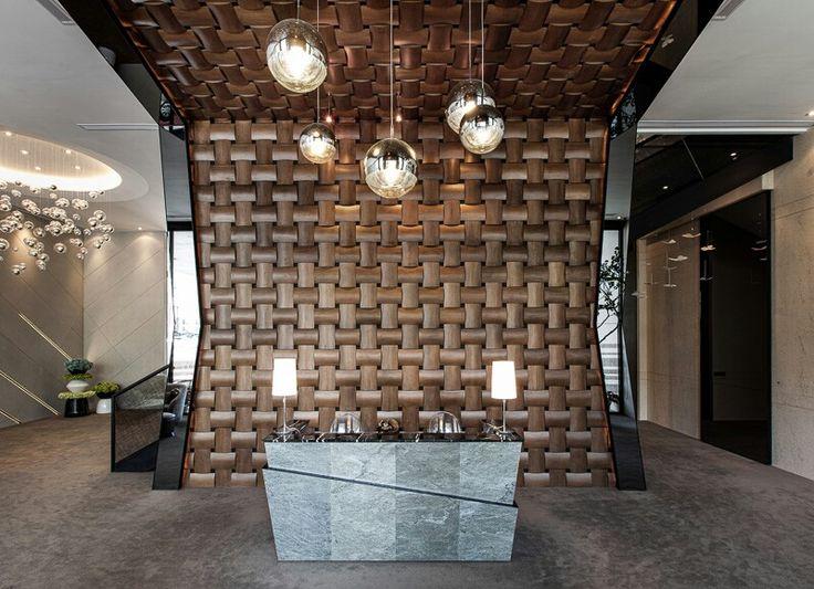 Wall reception wood