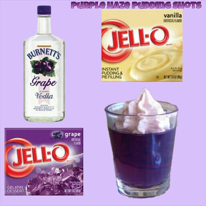 Purple Haze Pudding Shots.  See full recipe on facebook.com/puddingshots1