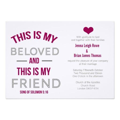 Best Bible Verse For Wedding Invitation: Modern Scripture Wedding Invitation