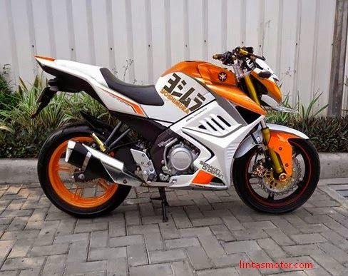 Modifikasi Yamaha New Vixion Full Fairing Lebih yang Menggigit   Motor Juragan