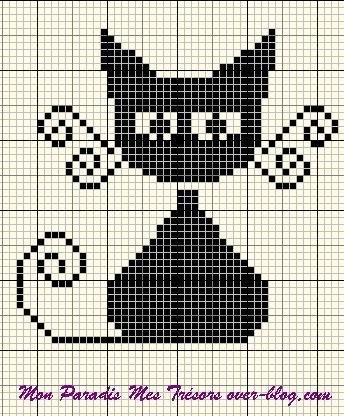 .gato - ponto cruz