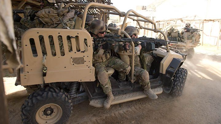 Mrzr 4 fast attack vehicle in action beard of war