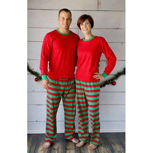 Adult Christmas Pajamas  Personalization is by JuliesTutuCreations