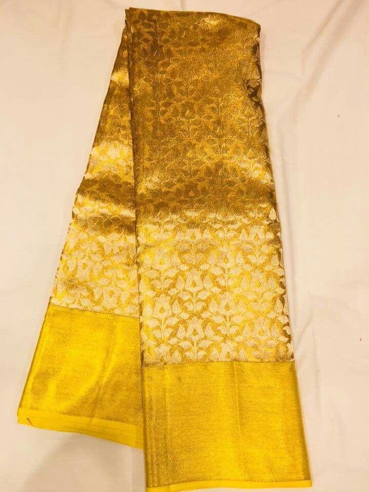 Gorgeous golden saree 11
