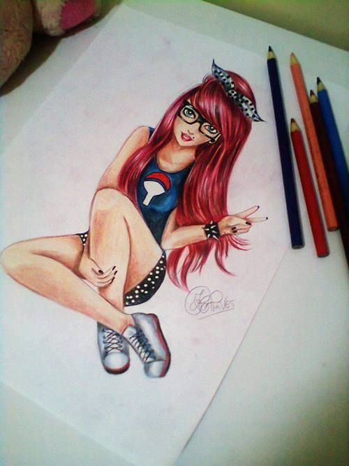 607 best coloured pencil and pastel art images on pinterest for Amazing drawings of girls