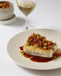 Saut#233;ed Cod with Rich Ketchup Sauce Recipe