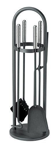 S�DMETALL Kaminbesteck Eisen beschichtet, Set 4 tlg., Griffe aus Edelstahl