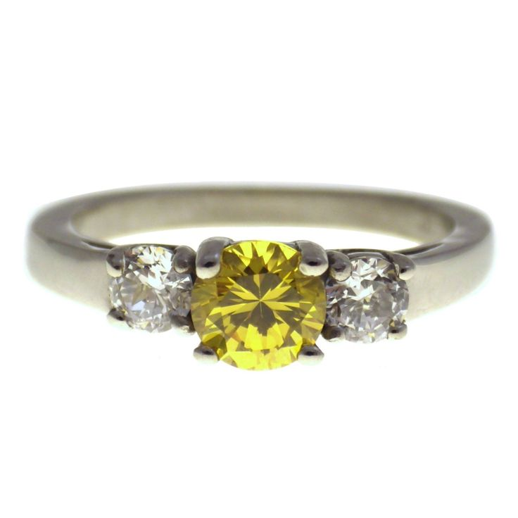 November Birthstone Ring | Stainless Steel Cz Yellow Topaz Birthstone Ring 5-10