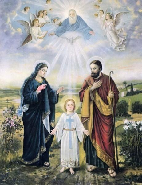 Our family model, the Holy Family. Pray to them for your families