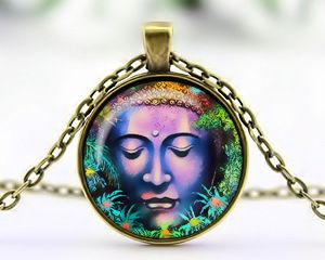 Buddha Cabochon Necklace – Antique Bronze Exclusive design to EJ Creative Flair.