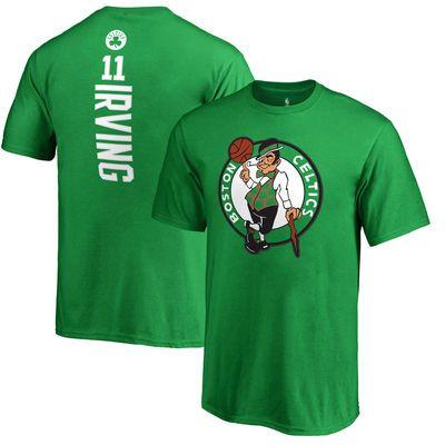 Youth Boston Celtics Kyrie Irving Fanatics Branded Kelly Green Backer Name & Number T-Shirt