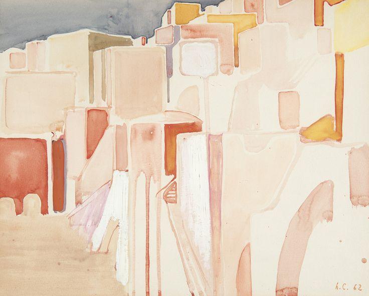Leonardo Cremonini (Italian, 1925-2010), Parentesi [Parenthesis], 1962. Watercolour and gouache, 32 x 40 cm.