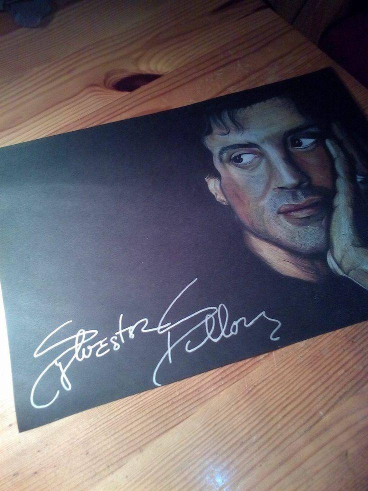 Sylvester Stallone portrait faber-castel pencils