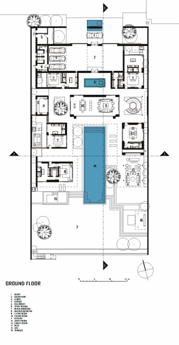 45 best autocad images on pinterest architecture for Villa interior design floor plan
