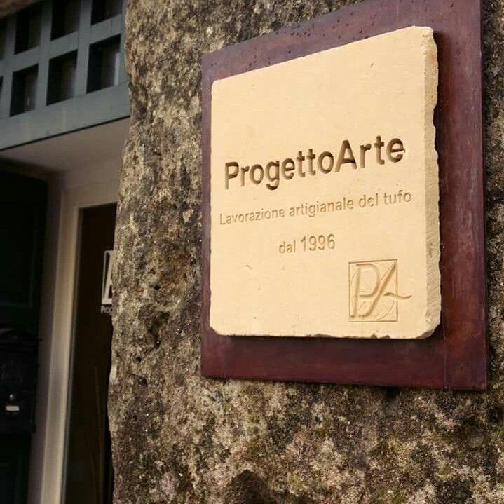 Insegna in tufo, Progetto Arte - creazioni artigianali in tufo - via B. Buozzi, 20 - Matera - Italy