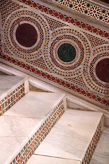 Circle Mosaics, Palazzo dei Normanni, Palermo, Sicily.